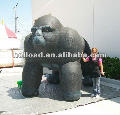 factory price! Giant inflatable gorilla model for advertising