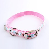 unique dog collar by designer nylon material with custom jacquard logo
