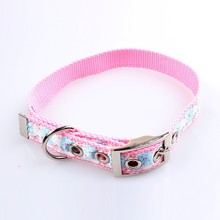 unique dog collar by designer nylon material with customed jacquard logo