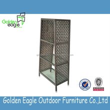 Cheap price rattan outdoor bookshelf wicker indoor furniture in good quality
