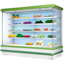 Supermarket Fruit or Vegetable Display Chiller with Air Curtain