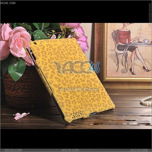 Ultra thin leopard skin pattern PU leather with elastic case for ipad 2/3