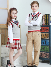 OEM service girls school uniform pinafore