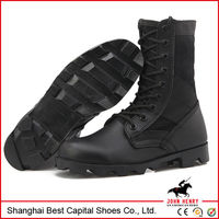 Genuine Leather Black Army Boots/Military Combat Boots Women/Man