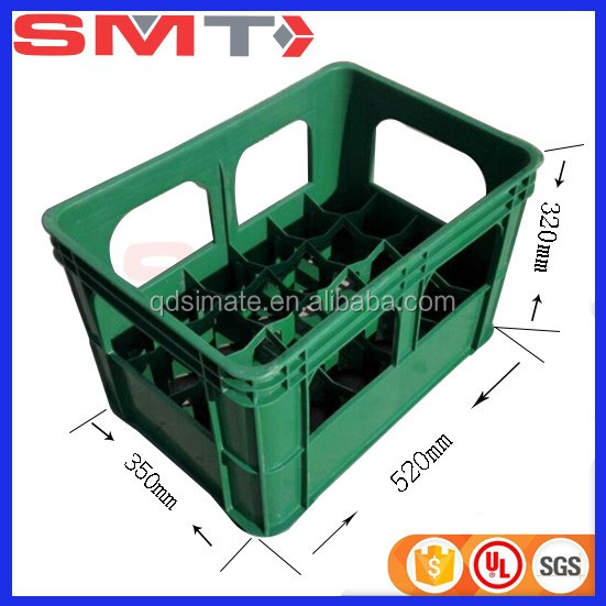 SMT manufacturer Hot sale 24 bottles beer crate plastic bottle crate