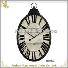 Home decoration reasonable price country style wall clock