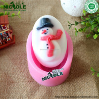 Christmas molds Silicone rubber lovely snowman soap mold silicone soap mould toy Nicole H0112