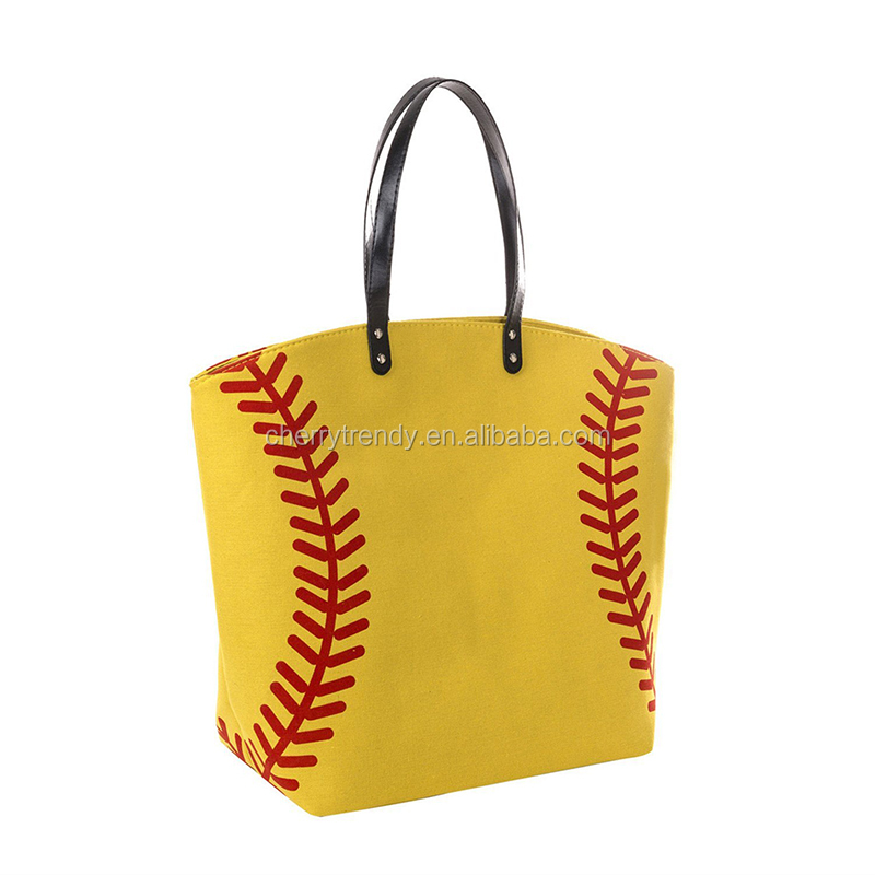 Baseball Design Canvas Bag Tote