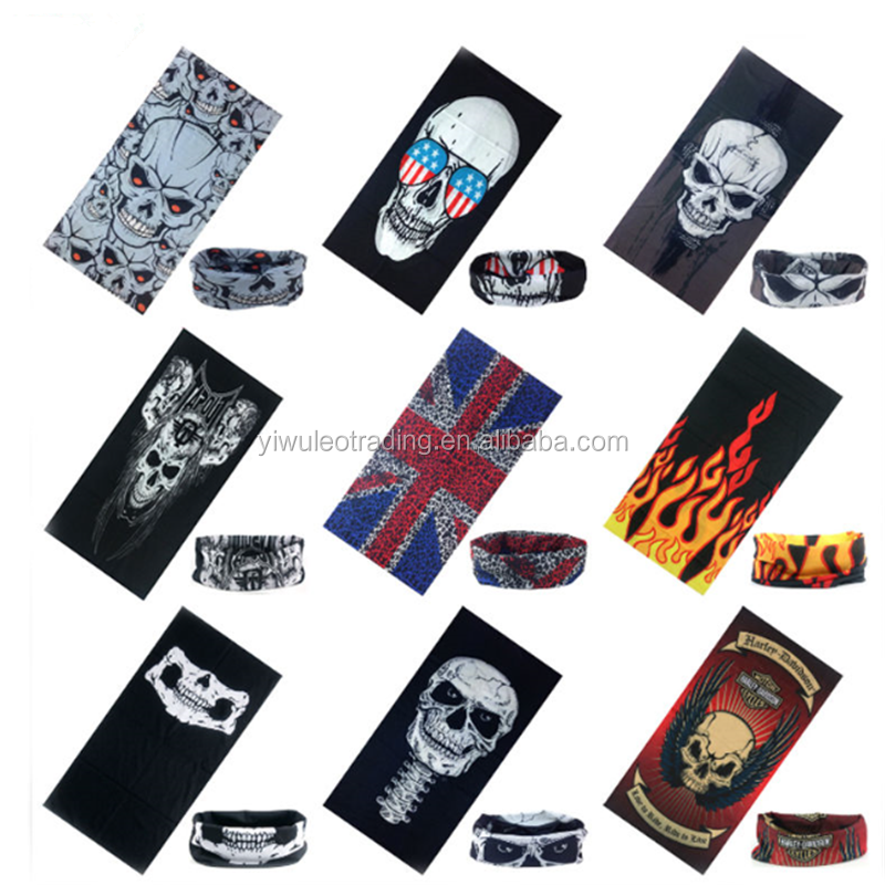 Wholsale Seamless Skull Face Tube Mask Dustproof windproof mask Vintage Headwrap Face Mask Wear Tube Bandana Biker Motorcycle