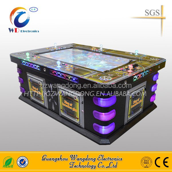 Two heads shark amusement video fish game table gambling machines for sale