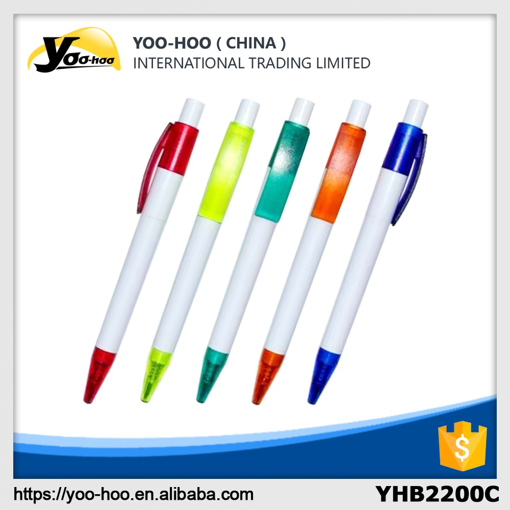 Hot selling advertising promotional plastic ball pen