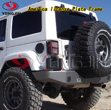 America Black Plastic License Plate Frame for Jeep Wrangler