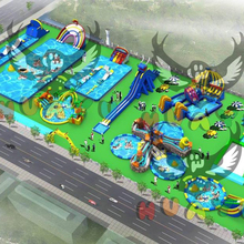 Popular Entertainment Land inflatable water park for sale factory customized <strong>model</strong>