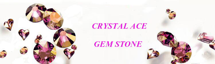 Fat triangle sew on crystal glass stones for dress