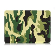 Military Camouflage Pattern Hard Plastic Case for Macbook Pro 13 with Touch Bar Green