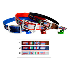 Factory supply excellent quality Cheap metal bar buckle flag dog collar clips