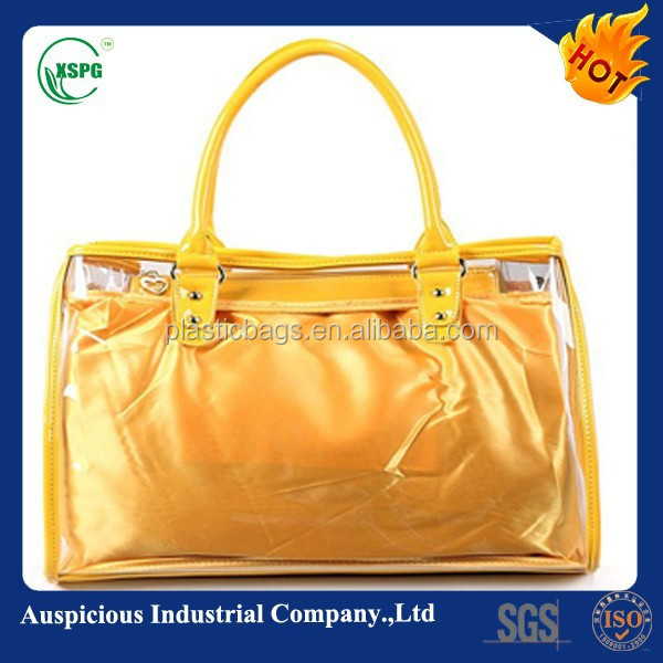 High quality manufacturer pvc coated cotton bag /shopping bag