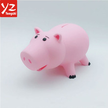 High Quality Low Price Factory Bulk Custom Made Pig Shape PVC Coin Bank, Kids Money Box, Piggy Banks