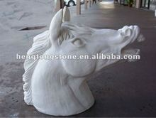 White Marble Head Of Horse Sculpture Carving