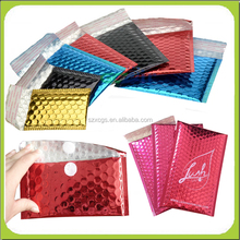 colorful plastic packing bags/shiny bubble mailers/small bags for gift
