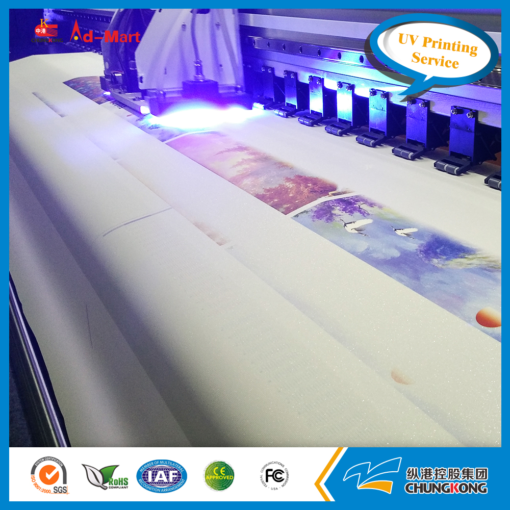 Fancy color picture printing UV machine factory made poster banner digital printing service