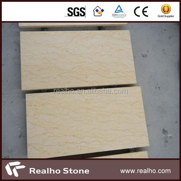 Egyptian sunny yellow beige marble tile 30x60 polished stair