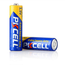 PKCELL Super Heavy Duty Dry Battery R6P AA Zinc carbon battery form shenzhen battery manufacturer