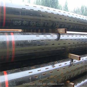 water well steel casing pipe slotted screen strainer steel pipe