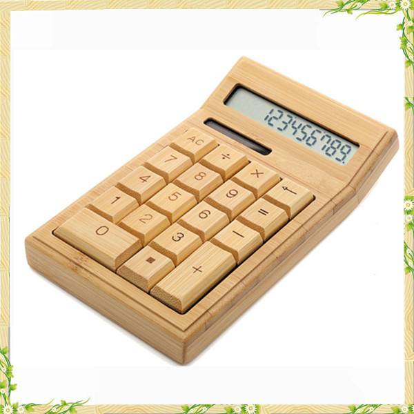 2017 nature wood bamboo calculator