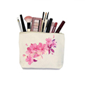Canvas zipper travel set make up bags with custom logo