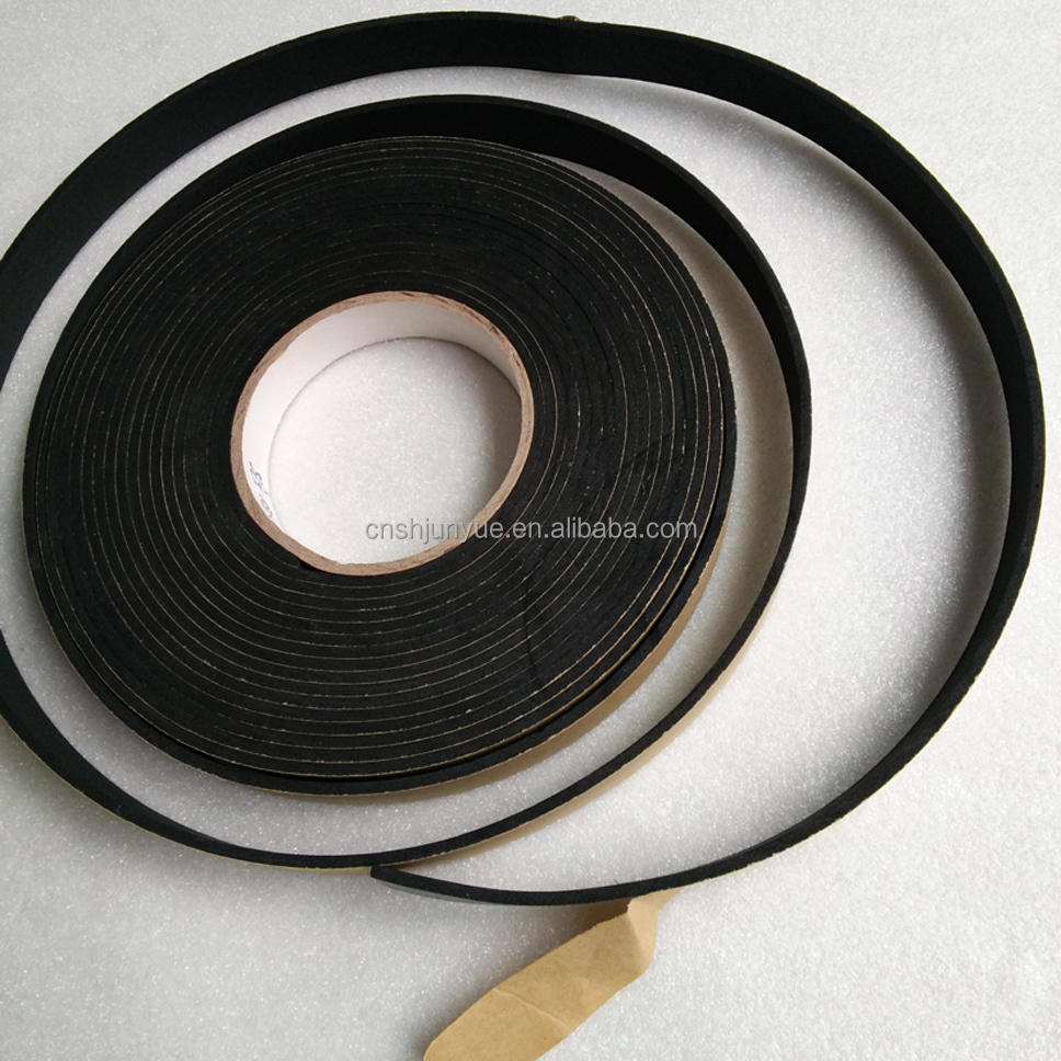 4mm 5mm 6mm 8mm 10mm EPDM single side hot melt acrylic solvent foam tape