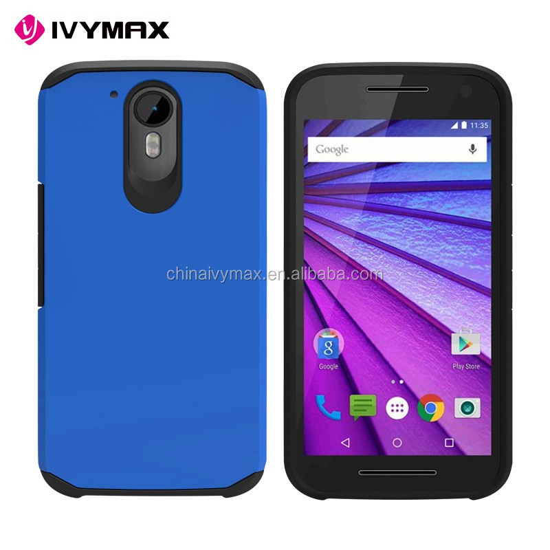 IVYMAX promotion hybrid shockproof mobile phone case for moto g4 plus