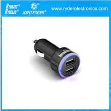 1A/500mA Dual USB Car Charger for mobile phone