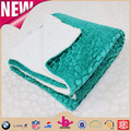 low price high quality super soft colorfull turquoise navy blue gold throw blanket
