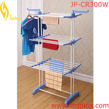 JP-CR300W Engineering Plastic Three layer Outdoor Clothing Drying Rack Large Clothes Drying Rack and stands with Wheel