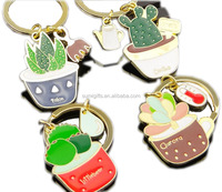 Plant and Flowers Shaped Most Popular Metal Keychain for Home decration