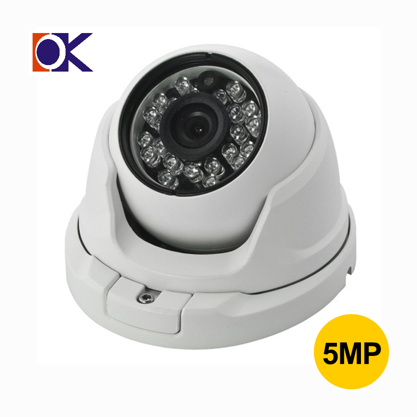 2017 OEM CCTV <strong>security</strong> 3.6MM 24pcs IR LED 5 megapixel 3-Axis Vandalproof Dome Camera indoor ip camera