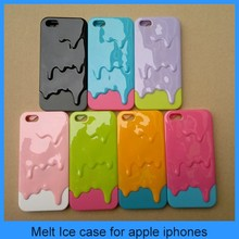New Arriving Cute 3D Melt Ice Cream Hard Back Cover Skin Case For iPhone 5 5S - Multicolor