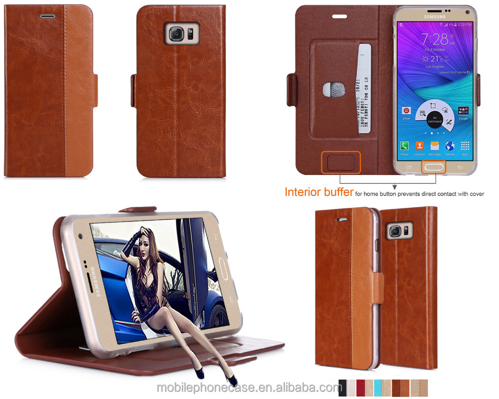 High Quality Genuine Leather Phone Case for Note 5