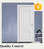 Inteiror swing open bedroom finger joined board wood door with frame