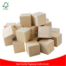 50 pcs Wooden Blocks 1 Inch Baby Unfinished Wood Cubes For Puzzle Making Crafts And DIY Projects