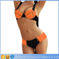 Hot Sexy Girl Photo Bikinis Set High Quality Back Cross Strap Thong Swimwear