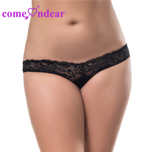 China Menufactory Five Color Four Size Plus Size Black Hot Open Sexy Panty Holes