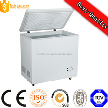 138L DC 12v 24v solar powered chest type deep freezer, deep freeze fridge