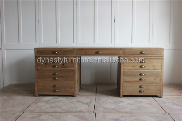 Commercial furniture wooden office desk modern with drawers