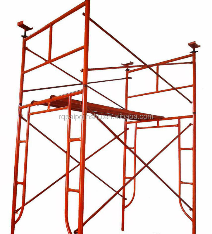Factory Supplying Construction Material Mobile Walk thru Steel h Frame Scaffolding