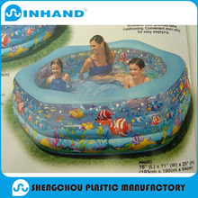 Adult large inflatable swimming pool made of 0.9mm pvc for water balls, roller balls and other water toys/swimming pool pump