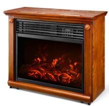 Portable Insert Electric Fireplace(With Mantel)