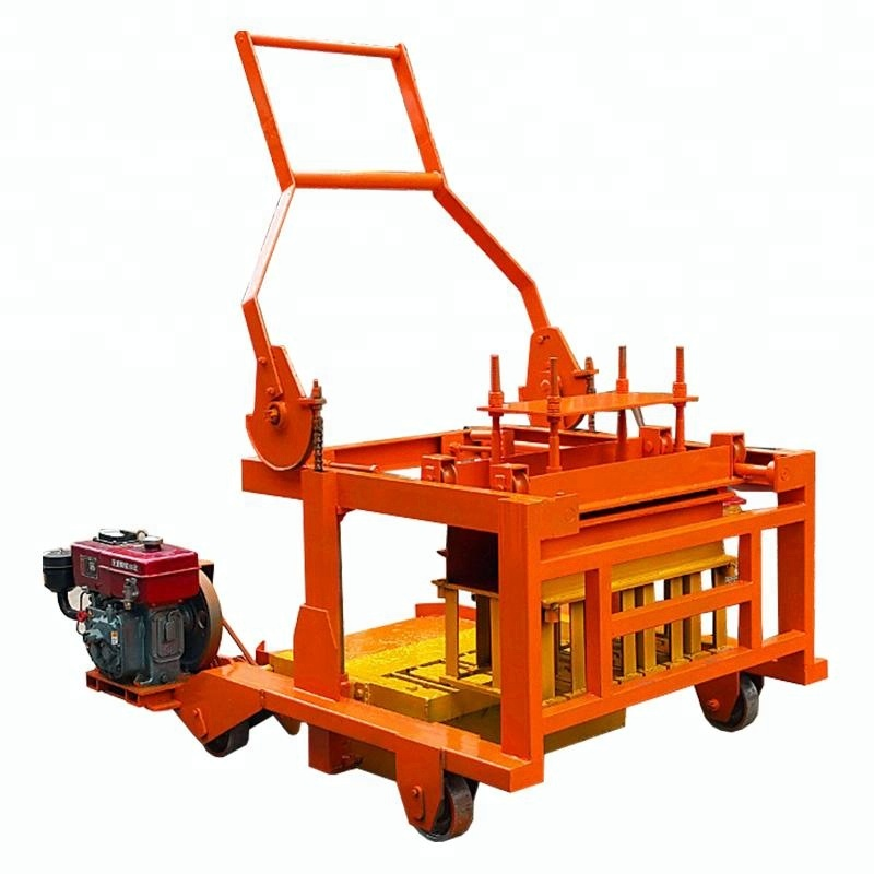 small mauanl concrete brick machine qcm4-30 sand coal ash block making machines dubai