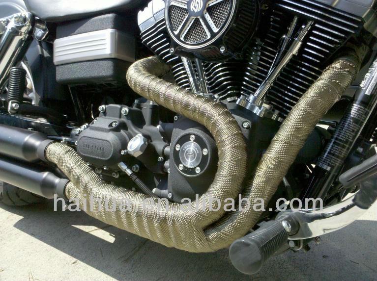 "1/""*50/' Titanium Exhaust Heat Shield Automotive Exhaust Heat Wrap for Manifold"